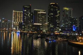 Dubai Marina by night 1